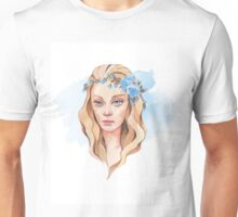 Girl with blue eyes  Unisex T-Shirt
