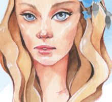 Girl with blue eyes  Sticker