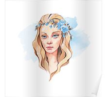 Girl with blue eyes  Poster