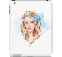 Girl with blue eyes  iPad Case/Skin