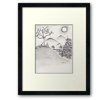 Zen Hill Framed Print