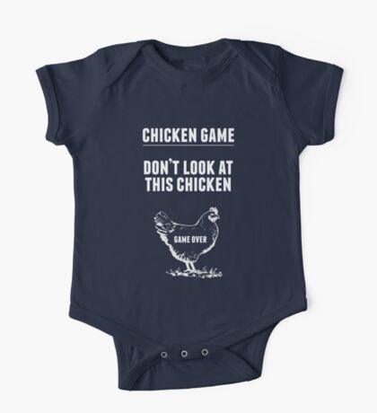 Chicken Game T-Shirt   Funny Chicken Joke One Piece - Short Sleeve