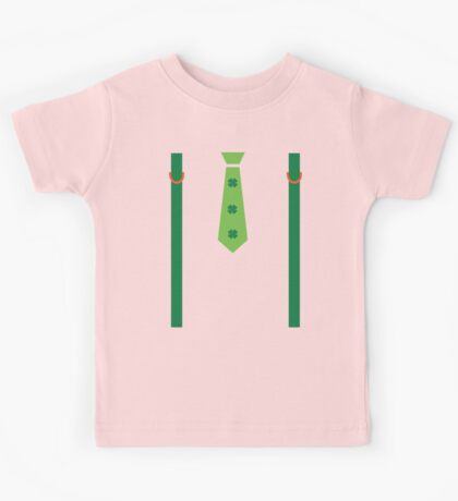 St.Patrick's day tie shoulder strap Kids Tee
