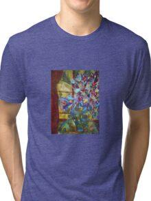 Metallic Florals Tri-blend T-Shirt