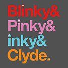 Blinky & Pinky & Inky & Clyde. by w1ckerman