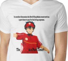 The Devil is a Part Timer! Sadao Maou Mens V-Neck T-Shirt