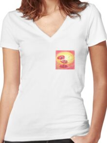 Poppies for Rememberance day Women's Fitted V-Neck T-Shirt