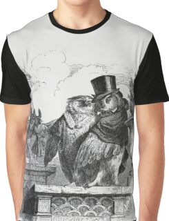 Owls on the Roof  by J. J. Grandville Graphic T-Shirt