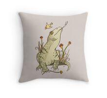 King Komodo Throw Pillow