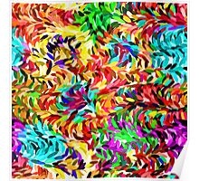 Cool Trendy Vibrant Summer Colors Paint Splatter Pattern Poster