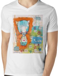 Tuna for Lunch Mens V-Neck T-Shirt
