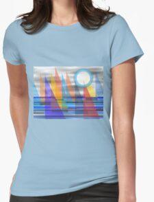 Geometric Sailing Womens Fitted T-Shirt