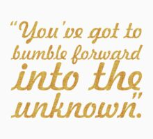 """You've got to bumble... """"Frank Gehry"""" Inspirational Quote One Piece - Short Sleeve"""