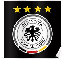 Euro 2016 Football - Germany (Away Black) Poster