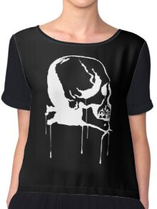 Splatter Skull 2 (white) Chiffon Top