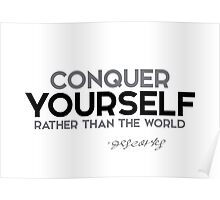 conquer yourself rather than the world - descartes Poster