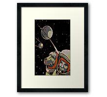 Space Dog SputniK Framed Print