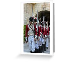 Soldiers Marching Greeting Card