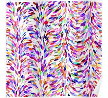 Bright Fun Summer Colors Artsy Paint Splatter Pattern Poster