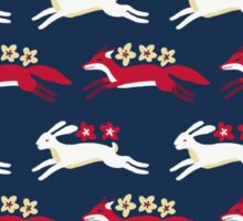 Hare and Fox Pattern Sticker