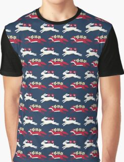 Hare and Fox Pattern Graphic T-Shirt