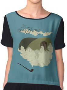 The Shire Vintage Travel Poster Chiffon Top