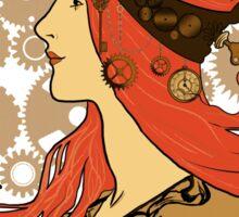 Steampunk Zodiac (Mucha Homage) Sticker