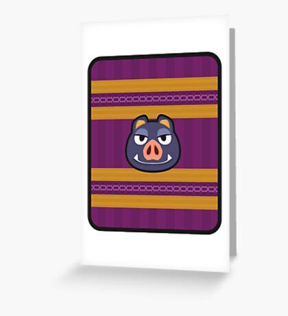 BORIS ANIMAL CROSSING Greeting Card