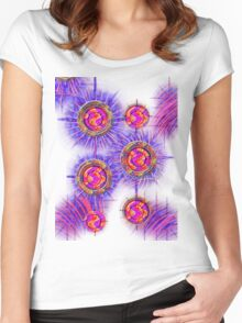 Abstract 30-wall  Art + Products Design  Women's Fitted Scoop T-Shirt