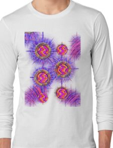 Abstract 30-wall  Art + Products Design  Long Sleeve T-Shirt