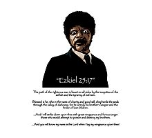 Samuel Jackson - Ezekiel Speech Pulp Fiction Variant Photographic Print