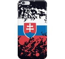 Slovakia Flag Ink Splatter iPhone Case/Skin