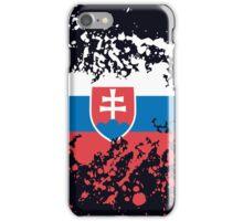 Slovakia Flag Ink Splatter iPhone Case/Skin