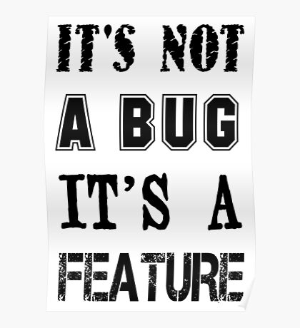 Programmer - It's Not a Bug it's a Feature Poster