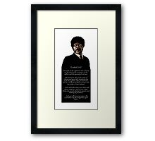 Samuel Jackson - Ezekiel Speech Pulp Fiction 1 Framed Print