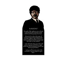 Samuel Jackson - Ezekiel Speech Pulp Fiction 1 Photographic Print
