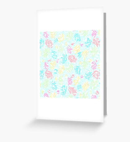 Cute Summer Pastel Watercolor Brush Strokes Pattern Greeting Card