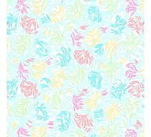 Cute Summer Pastel Watercolor Brush Strokes Pattern Photographic Print
