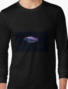 Natural History Fish Histoire naturelle des poissons Georges V1 V2 Cuvier 1849 048 Inverted Long Sleeve T-Shirt