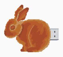 Pixel Rabbit Pie Flash Drive Kids Tee