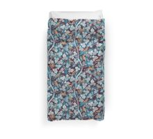 Birds in Blue Duvet Cover