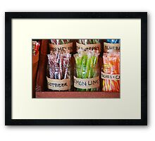 Old Fashioned Candy Sticks Framed Print