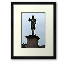 Statue in Quito Framed Print
