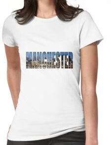 Manchester. Womens Fitted T-Shirt