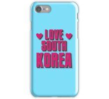 LOVE SOUTH KOREA iPhone Case/Skin
