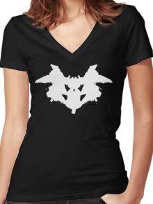 Rorschach Inkblot Women's Fitted V-Neck T-Shirt