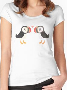 Puffins In Love Women's Fitted Scoop T-Shirt
