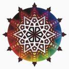 Geometric Rainbow Star by webgrrl