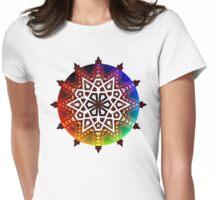 Geometric Rainbow Star Womens Fitted T-Shirt
