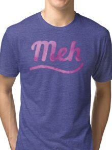 MEH in pink watercolor Tri-blend T-Shirt